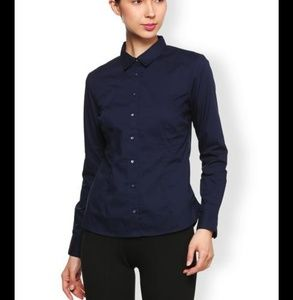 NWT TOMMY HILFIGER NAVY BUTTON FRONT LARGE